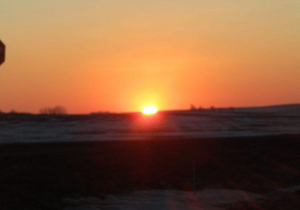 Sunrise east of Kingsley by Lois Galles
