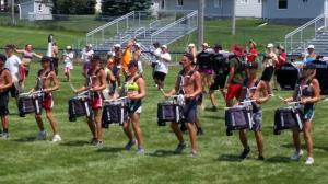 Colt Cadets Drum Corps Practice