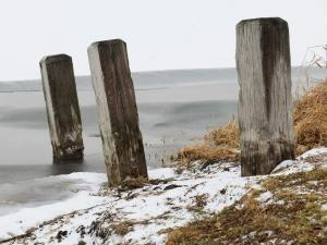 3 posts on the water's edge at Midway