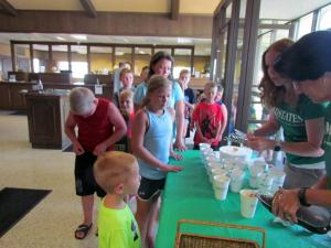 A to Z Summer Program brought their kids over to MidStates for a Root Beer Float