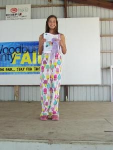 Brigid McGown recived a Merit in Style Revue and will be showing her outfit at the Clay County Fair