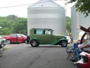 Green car
