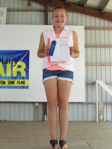 Jordan Schweitzberger received a Blue ribbon in the $15 Challenge