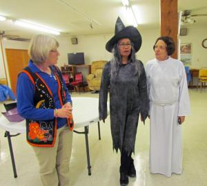 Legion Auxiliary members Donna Flewelling, Lillie Rundall, and Helen St. Peter along with Pam Clark and Pert Degen also helped hand out candy to all the kids