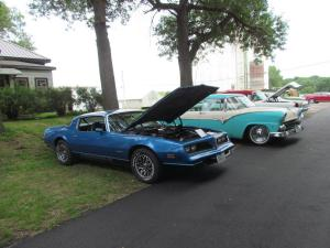 Max Dunnington's blue car
