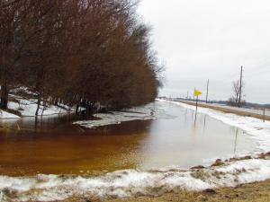 North of Moville -- water filling the roadside ditches on Hwy. 140