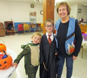 Pam Clark with her grandsons Harrison and Oscar
