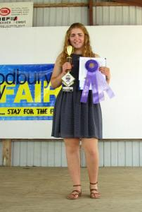Sarah Nelson was named the Grand Champion in the $15 Challenge and will show the outfit at the Iowa State Fair
