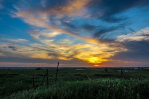 The colors of the sunset were ever-changing in value. This was one of the first photos I took