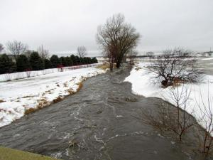 The creek across the road from the golf course