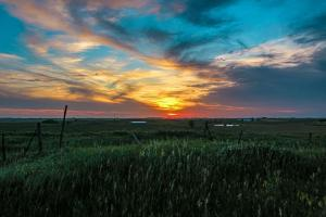 The sunset was amazing